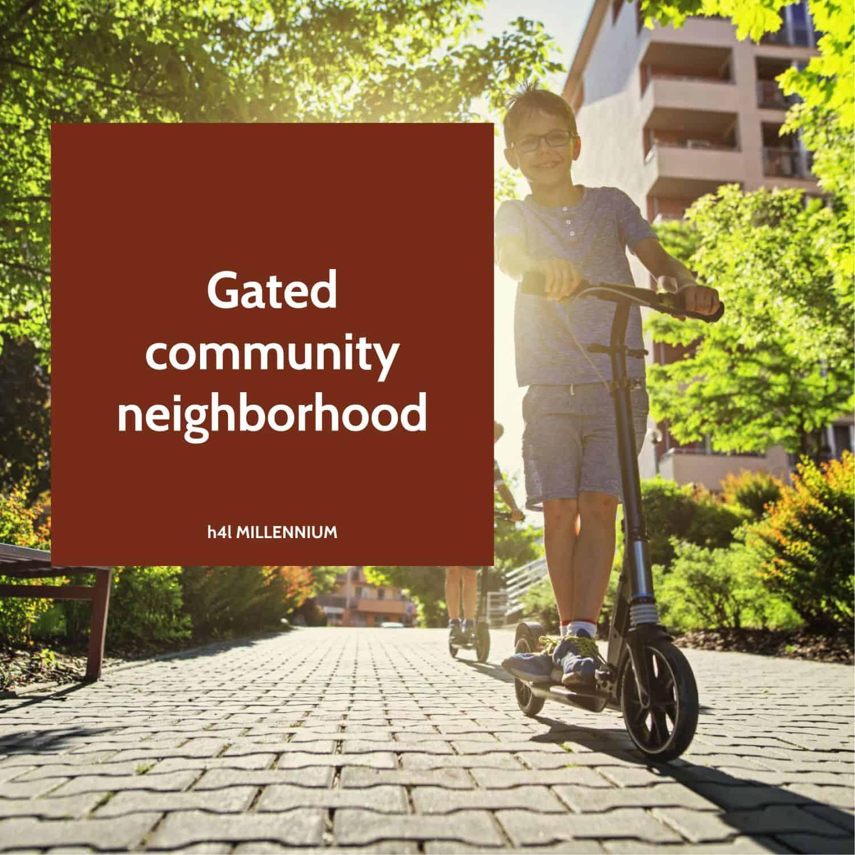 Gated community neighborhood