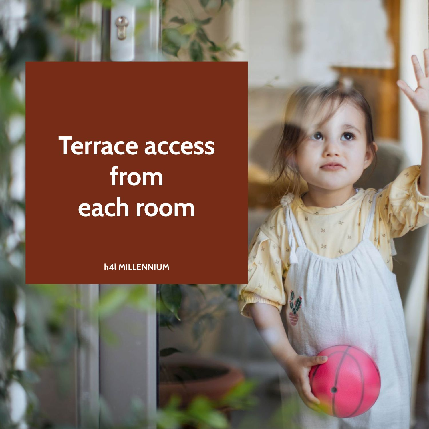 Access on the terrace from each room
