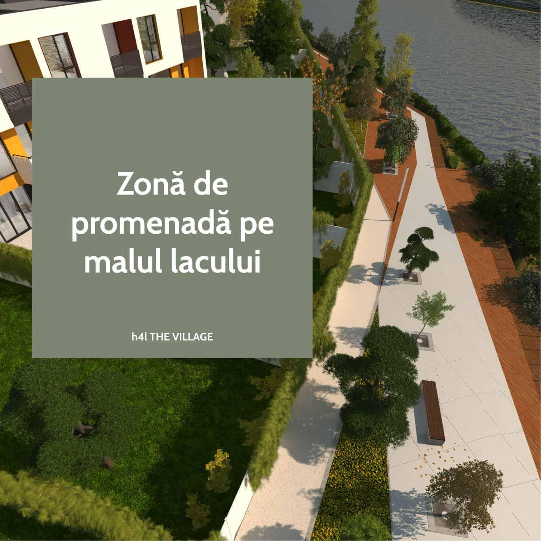 Promenade area around the lake