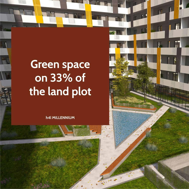 Generous green area